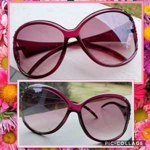 Raspberry Pink Rhinestone-encrusted Sunnies